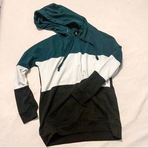 Missguided color block hoodie